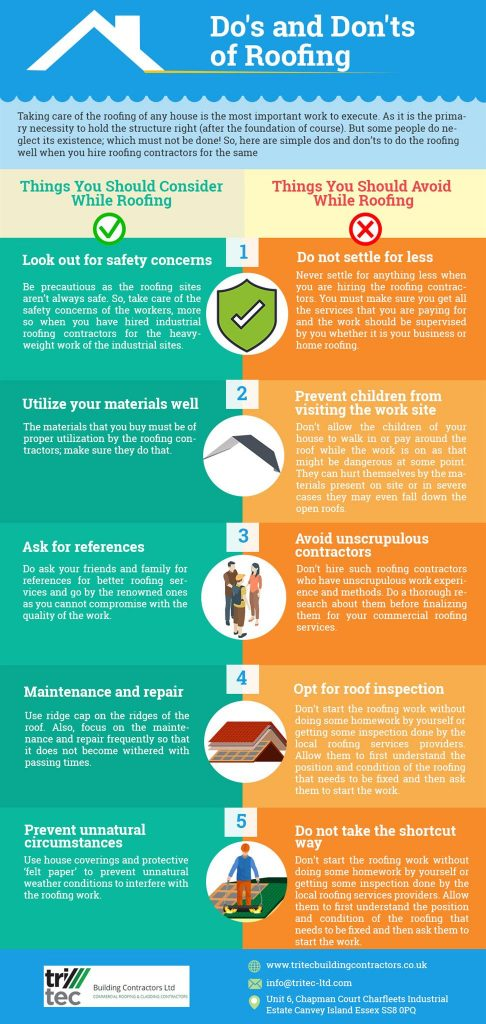 The Do S And Don Ts Of Roofing Infographic Tips
