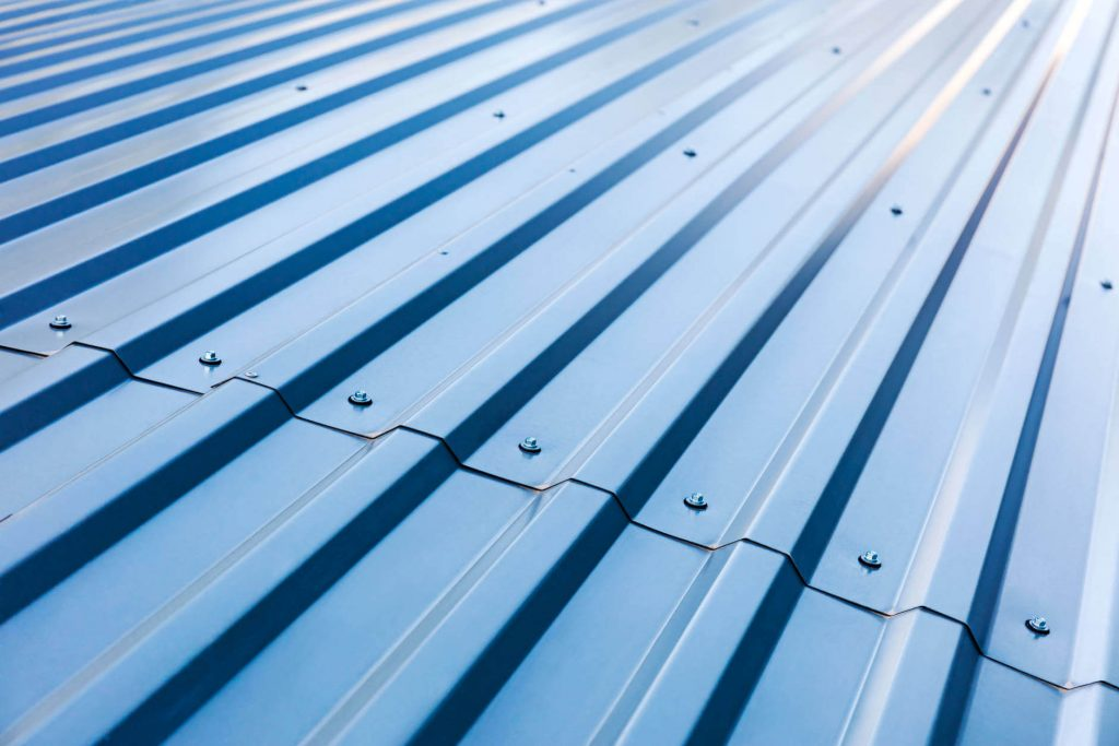 Metal Corrugated Roofing with protective spray