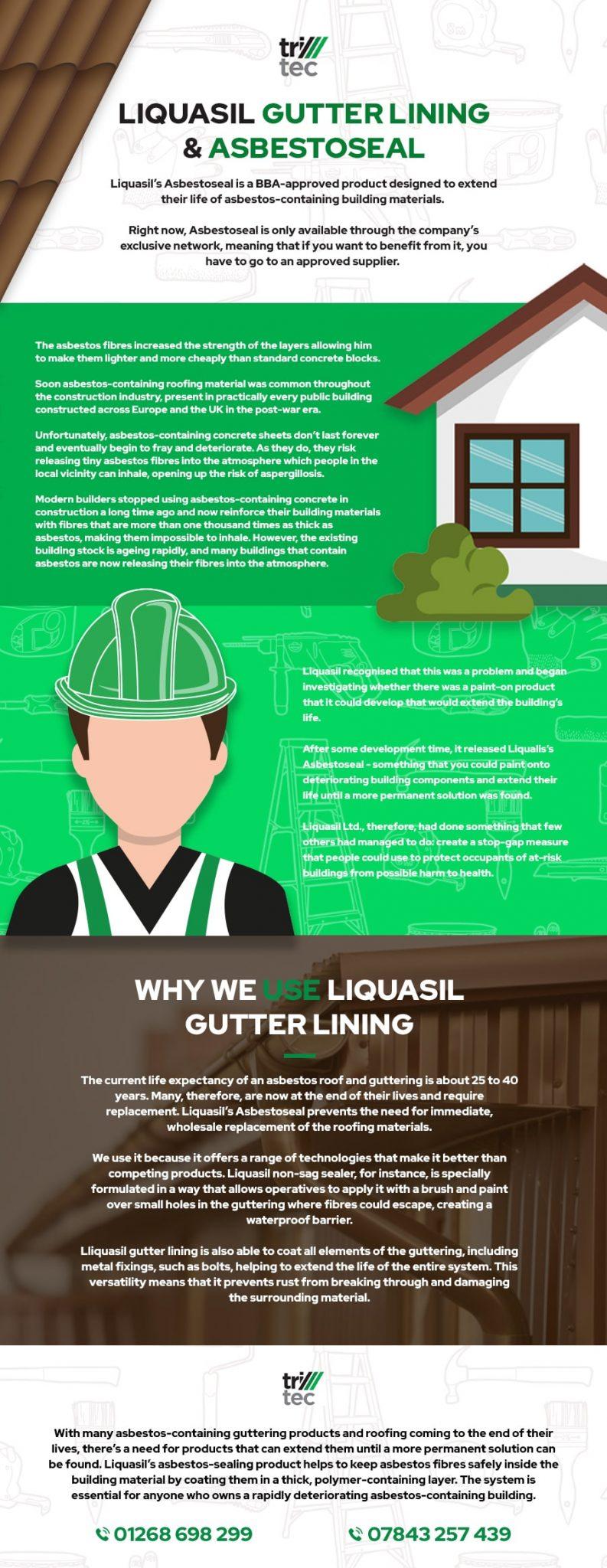 Liquasil Gutter Lining Asbestoseal