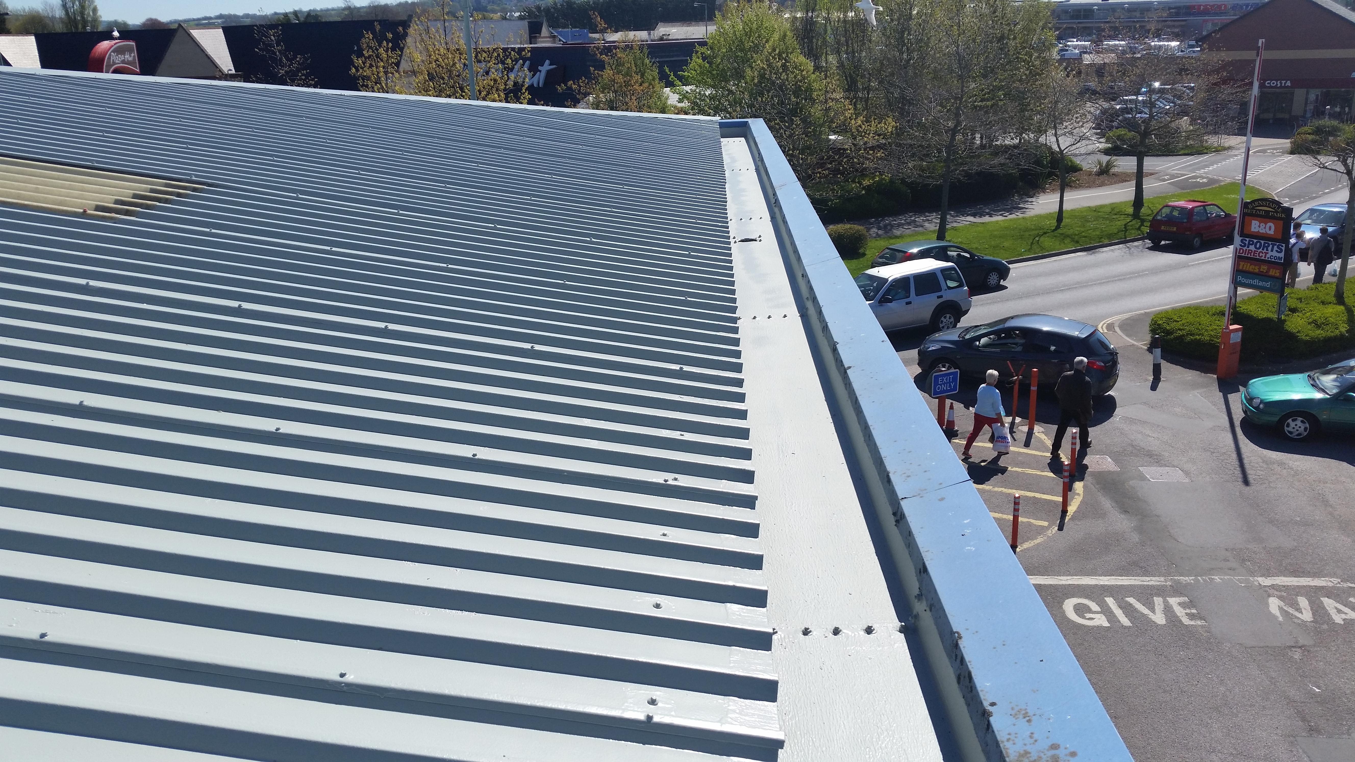 Poundland Full Metal Roof Re Coat Amp Gutter Refurbishment
